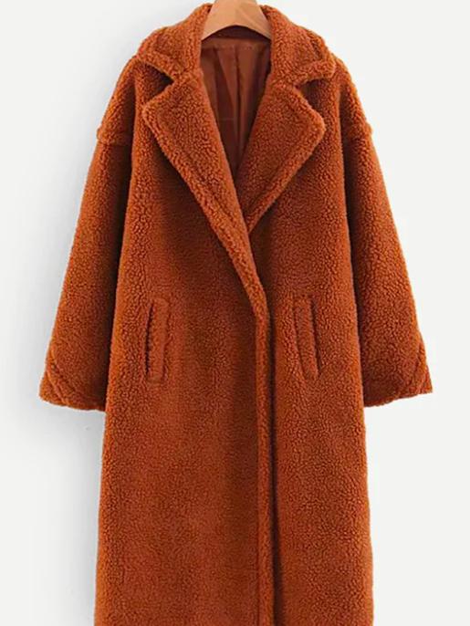 manteau peau de mouton marron