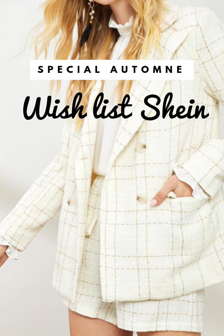wish list shein automne