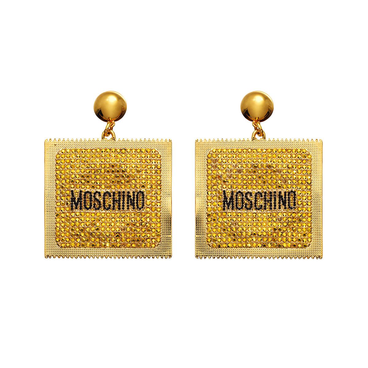 boucles d'oreilles MOSCHINO x H&M