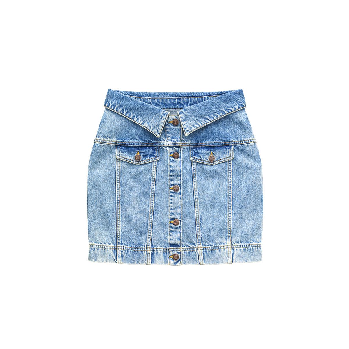 jupe jean MOSCHINO x H&M