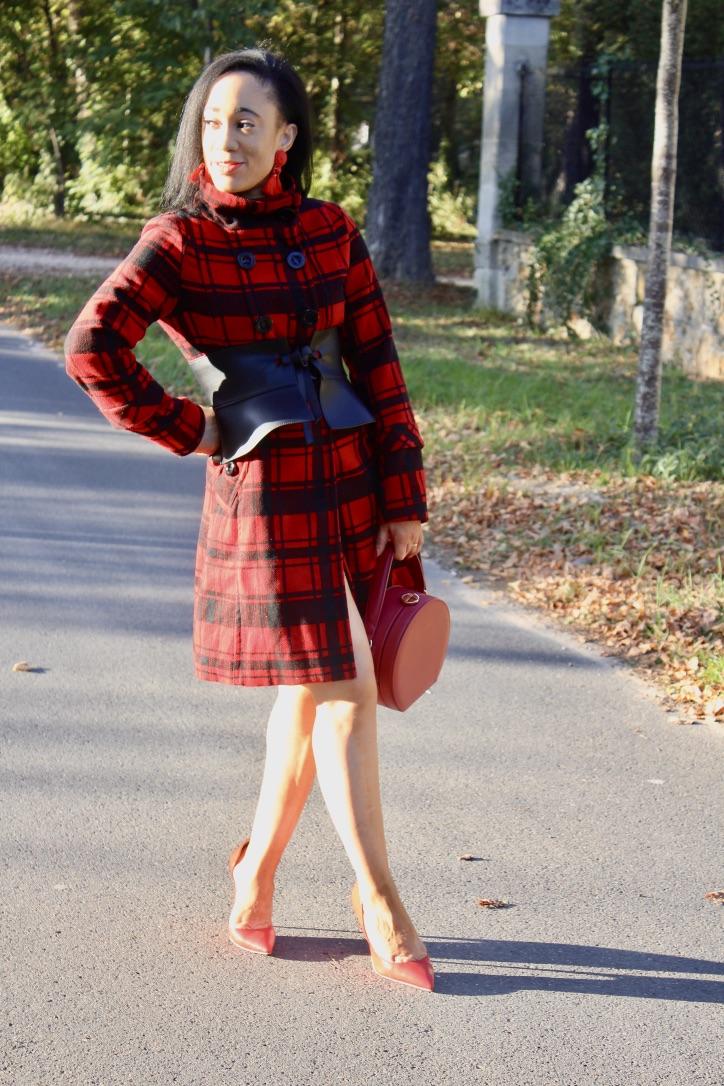 look automne le manteau à carreaux