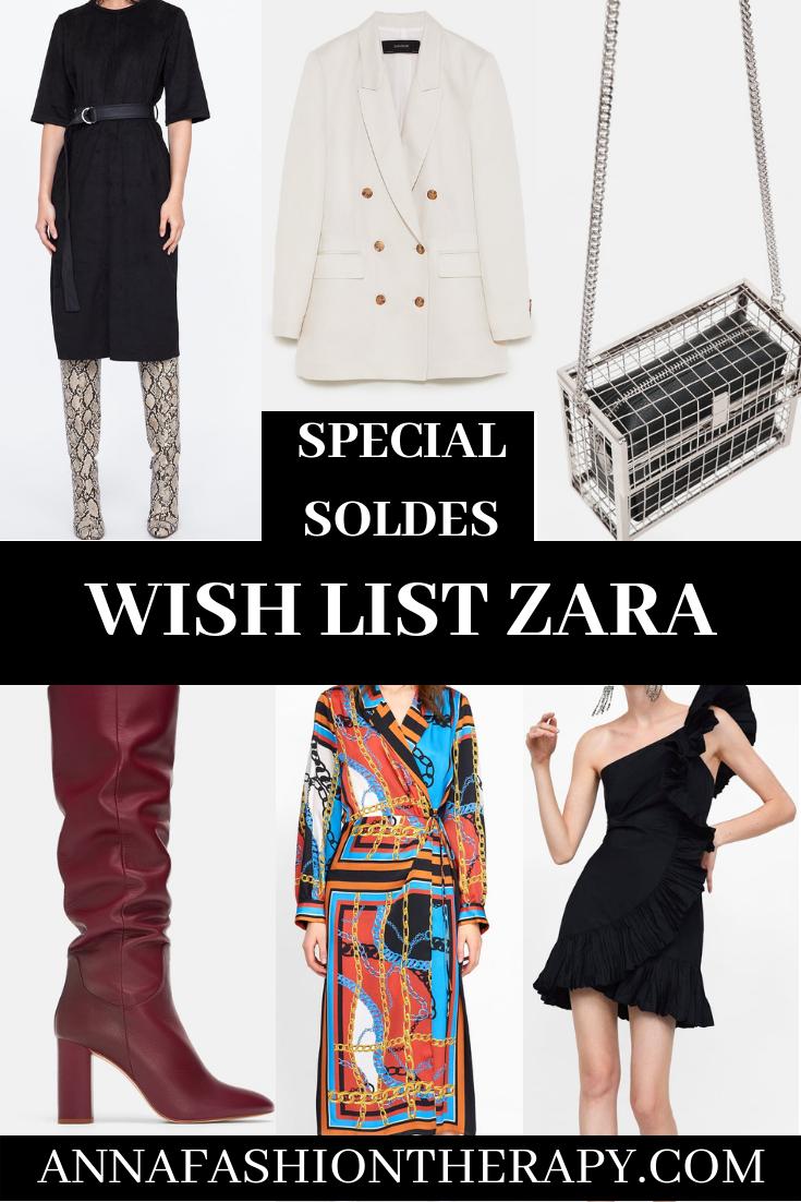 wish list Zara soldes