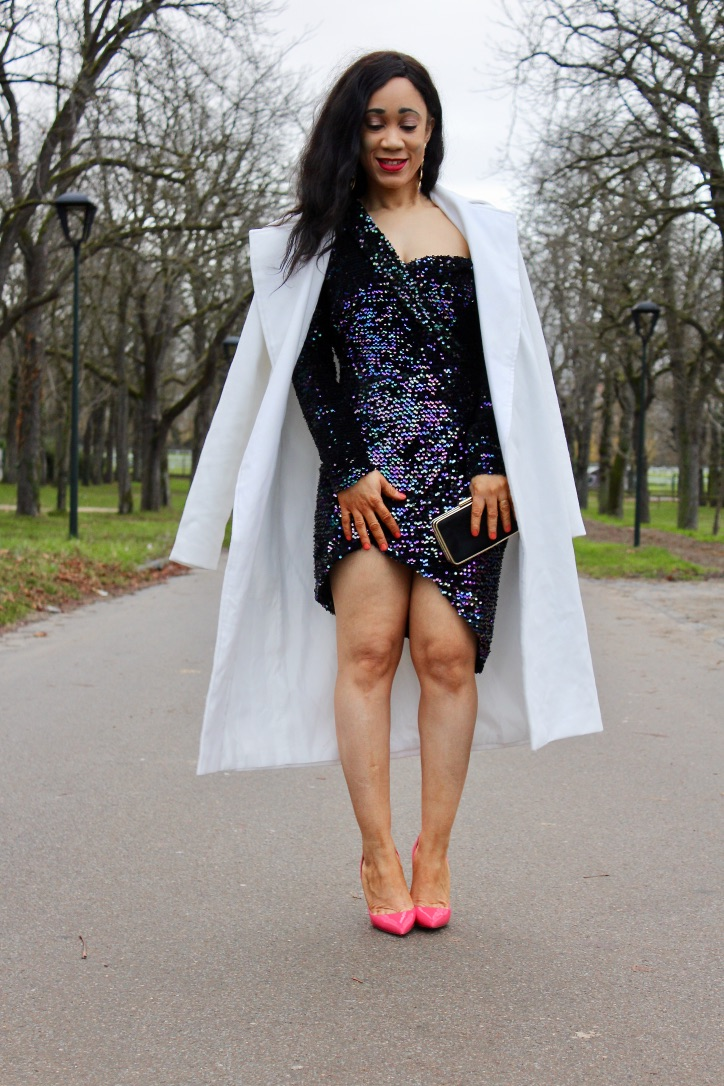 inspo look nouvel an robe sequins