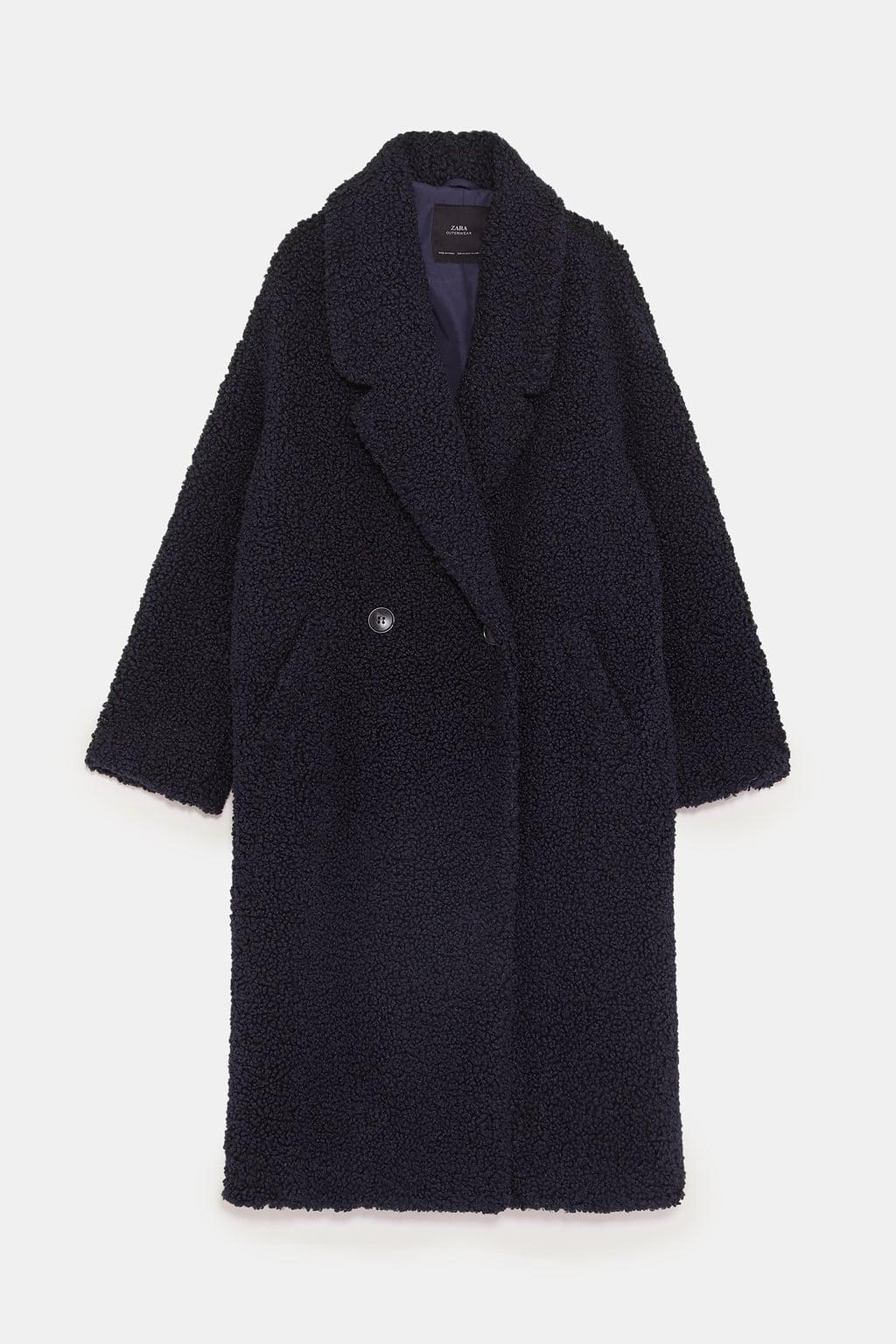manteau effet mouton