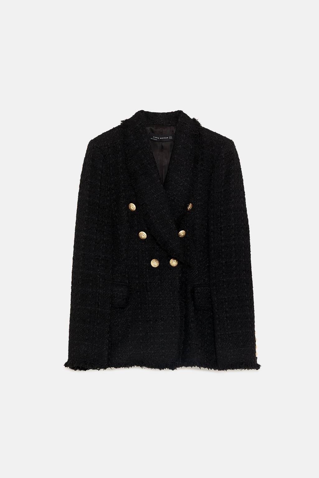 veste en tweed à boutons