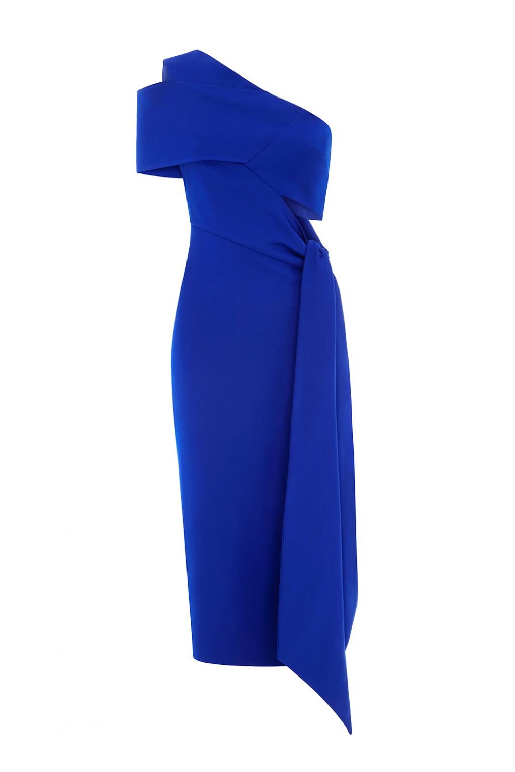robe midi bleu aqaq