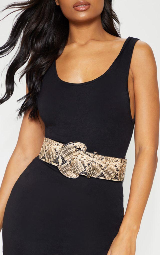 ceinture large imprimé serpent