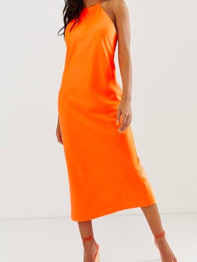 robe orange fluo asos