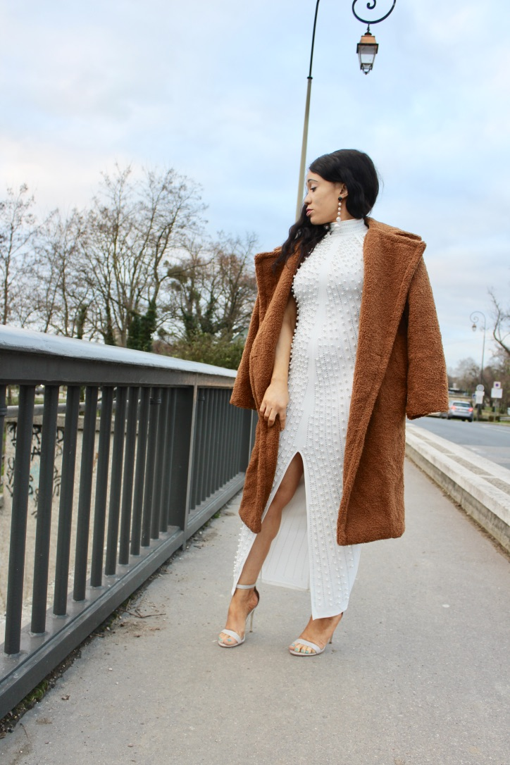 inspiration look robe à perles