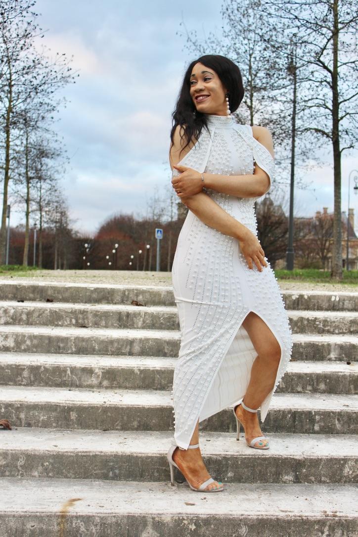 look robe à perles fashion nova
